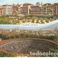 Postales: POSTAL PAMPLONA. PLAZA DEL CASTILLO Y COSO TAURINO. 73-226. Lote 194710640