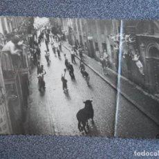 Postales: SAN FERMINES - POSTAL FOTOGRÁFICA ANTIGUA CON EXPLICACIÓN EN REVERSO DE UNO DE LOS FOTOGRAFÍADOS. Lote 194896972