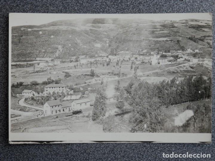 RARA POSTAL FOTOGRÁFICA ESTACIÓN FERROCARRIL A IDENTIFICAR ANTIGUA (Postales - España - Navarra Antigua (hasta 1.939))