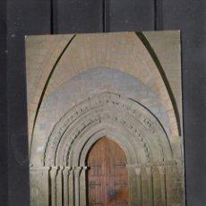 Postales: Nº 3 PUENTE LA REINA. IGLESIA DEL CRUCIFIJO, DETALLE DE LA PORTADA. Lote 195253125