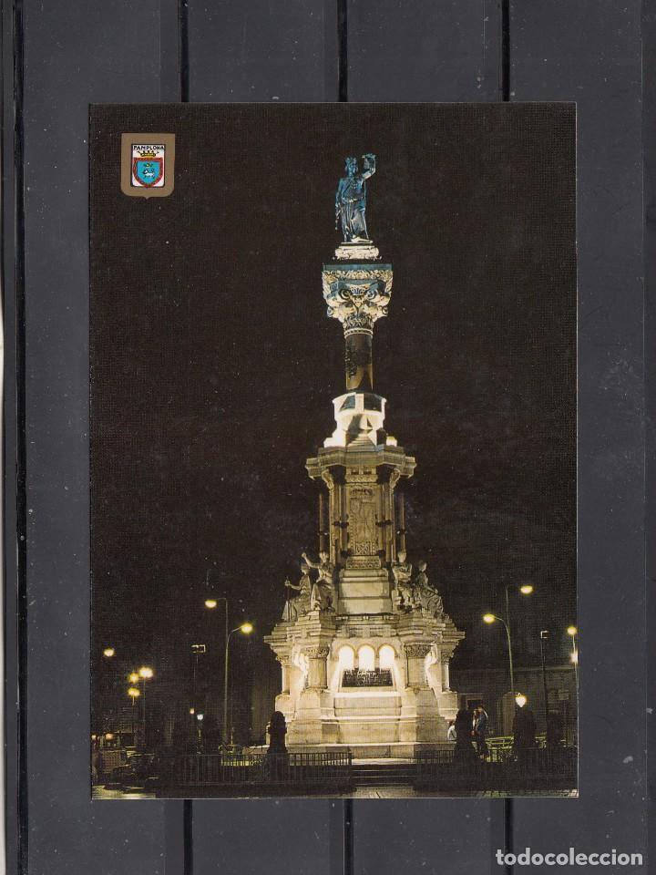 123.- PAMPLONA. MONUMENTO A LOS FUEROS (Postales - España - Navarra Moderna (desde 1.940))