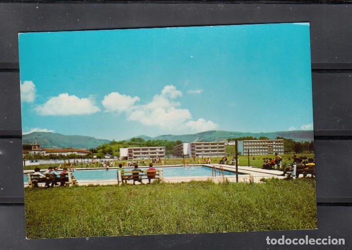 COLEGIO DE LECAROZ. PISCINA Y VISTA SUR DEL COLEGIO (Postales - España - Navarra Moderna (desde 1.940))