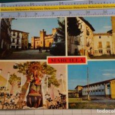 Postales: POSTAL DE NAVARRA. AÑO 1968. MARCILLA PLAZA DE ESPAÑA PLAZA DE LA IGLESIA VIRGEN DEL PLU. 2 ARTH. Lote 195485731