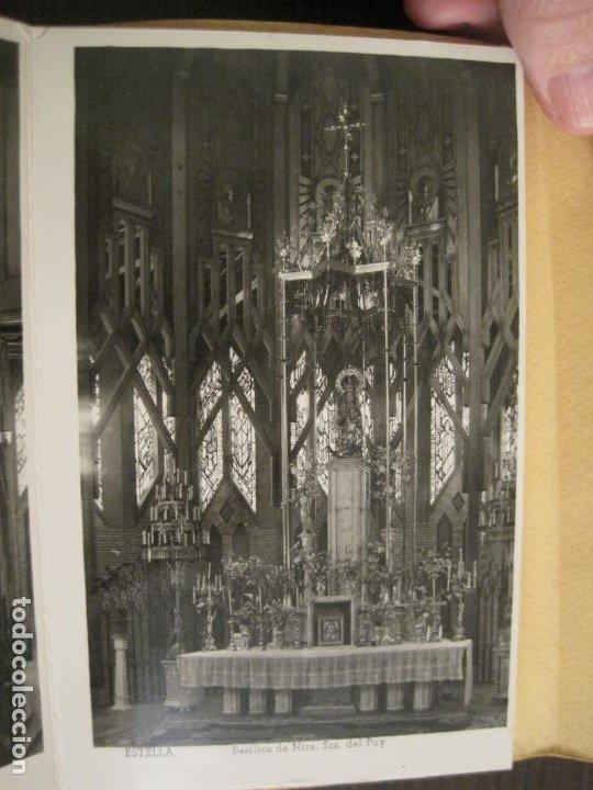 Postales: ESTELLA-BASILICA DE NTRA SRA DEL PUY-BLOC DE 15 POSTALES FOTOGRAFICAS-ED·MANIPEL-VER FOTOS-(68.340) - Foto 5 - 195872827