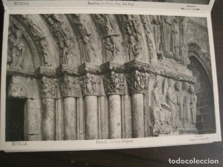 Postales: ESTELLA-BASILICA DE NTRA SRA DEL PUY-BLOC DE 15 POSTALES FOTOGRAFICAS-ED·MANIPEL-VER FOTOS-(68.340) - Foto 10 - 195872827