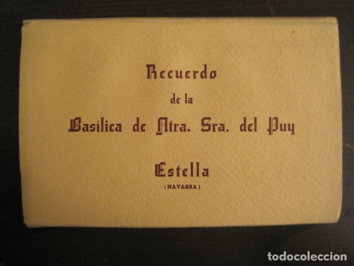 ESTELLA-BASILICA DE NTRA SRA DEL PUY-BLOC DE 15 POSTALES FOTOGRAFICAS-ED·MANIPEL-VER FOTOS-(68.340) (Postales - España - Navarra Antigua (hasta 1.939))