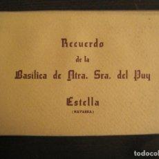Postales: ESTELLA-BASILICA DE NTRA SRA DEL PUY-BLOC DE 15 POSTALES FOTOGRAFICAS-ED·MANIPEL-VER FOTOS-(68.340). Lote 195872827