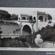 Postales: PAMPLONA PORTAL NUEVO POSTAL FOTOGRÁFICA ANTIGUA. Lote 196034911