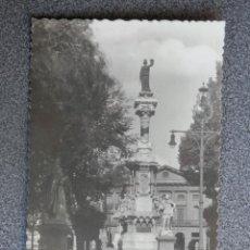 Postales: PAMPLONA MONUMENTO A LOS FUEROS DE NAVARRA POSTAL FOTOGRÁFICA ANTIGUA. Lote 196035167