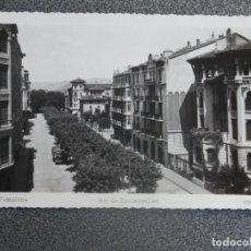 Postales: PAMPLONA AVENIDA DE RONCESVALLES POSTAL FOTOGRÁFICA ANTIGUA. Lote 196035345