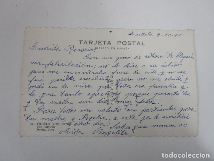 Postales: Tarjeta Postal - Tudela, Vista Parcial -Ed Darvi, Zaragoza - Año 1966 - Escrita - Foto 3 - 197736197
