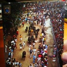 Postales: POSTAL PAMPLONA NAVARRA FIESTA DE SAN FERMÍN EL ENCIERRO N 57 ESCUDO DE ORO S/C. Lote 198320095