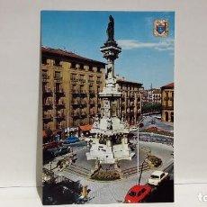 Postales: POSTAL PAMPLONA MONUMENTO A LOS FUEROS ESCUDO DE ORO SIN USO.. Lote 198692980