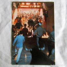 Postales: POSTAL ENCIERROS SANFERMINES PAMPLONA, FOTOGRAFÍA FELIX ALIAGA, FIRMADA POR EL AUTOR EN 1979. Lote 198733056