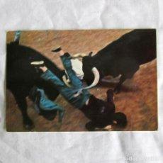 Postales: POSTAL ENCIERRO EN SANFERMINES PAMPLONA, FOTO FELIX ALIAGA 1968, FIRMADA POR EL AUTOR. Lote 198734937
