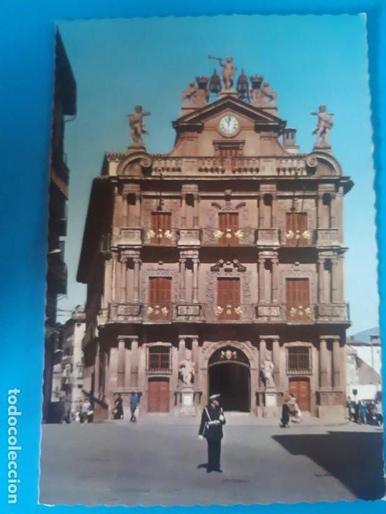 BONITA POSTAL, PAMPLONA, AYUNTAMIENTO, SIN USO (Postales - España - Navarra Moderna (desde 1.940))