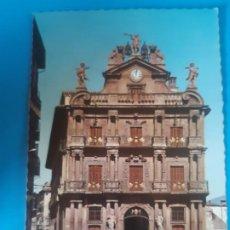 Postales: BONITA POSTAL, PAMPLONA, AYUNTAMIENTO, SIN USO. Lote 198881037