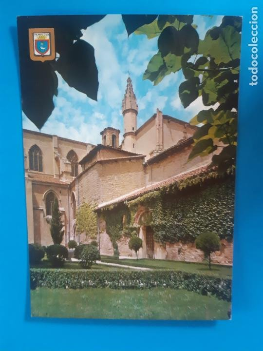 BONITA POSTAL. PAMPLONA. AYUNTAMIENTO CATEDRAL SIN USO (Postales - España - Navarra Moderna (desde 1.940))