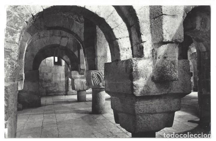 POSTAL FOTOGRÁFICA- MONASTERIO DE LEYRE.- Nº 2, CRIPTA SIGLO IX. ED. SICILIA. NAVARRA- CIRCULADA (Postales - España - Navarra Moderna (desde 1.940))