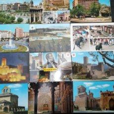 Postales: NAVARRA, PAMPLONA, ELIZONDO, TUDELA, JAVIER. LOTE DE 18 POSTALES. Lote 199666078