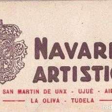 Postales: VARIOS PUEBLOS (NAVARRA) - UJUE - AIBAR - LA OLIVA - TUDELA - TACO DE 20 POSTALES. Lote 200191697