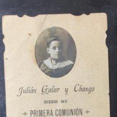 Postales: PAMPLONA , NAVARRA , 1910 , RECORDATORIO PRIMERA COMUNIÓN , IMP. ARAMBURU. Lote 203809463