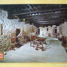 Postales: CASTILLO DE XAVIER (NAVARRA) - SALA PRINCIPAL. Lote 203992487