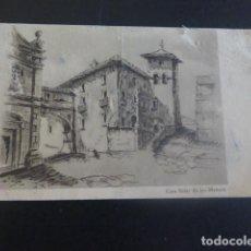 Postales: TAFALLA NAVARRA CASA SOLAR DE LOS MENCOS POSTAL. Lote 205279003