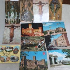 Postales: 12 POSTALES. NAVARRA. PAMPLONA. ESTELLA. FOTO CARCELER. GARCIA GARRABEITIA. ZARAGOZA. AÑOS 60.. Lote 205674571