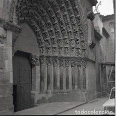 Postales: NEGATIVO ESPAÑA NAVARRA TUDELA CATEDRAL 1973 KODAK 55MM GRAN FORMATO FOTO PHOTO NEGATIVE. Lote 205801745