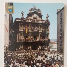 Postales: PLAMPLONA DISPARO FIESTAS SAN FERMIN POSTAL. Lote 205808267