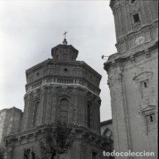 Postales: NEGATIVO ESPAÑA NAVARRA TUDELA CATEDRAL 1973 KODAK 55MM GRAN FORMATO FOTO PHOTO NEGATIVE. Lote 206322745