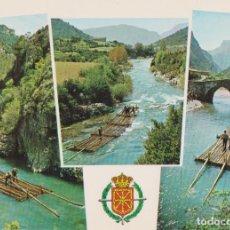 Postales: NAVARRA, RIO ESCA, ANTIGUO TRANSPORTE DE LA MADERA - FOTO PEÑARROYA 548 - S/C. Lote 206348727