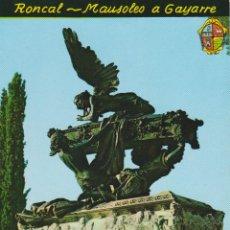 Postales: RONCAL (NAVARRA) MAUSOLEO A GAYARRE - FOTO PEÑARROYA 536 - S/C. Lote 206349848