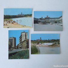 Postales: CUATRO POSTALES DE TUDELA, NAVARRA - EDICIONES FITER. Lote 206887416