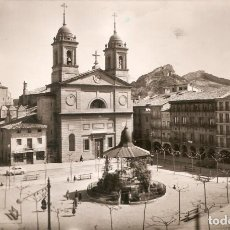 Postales: ESTELLA PLAZA DE LOS FUEROS FOTO MONTOYA C. EN 1958. Lote 208152193