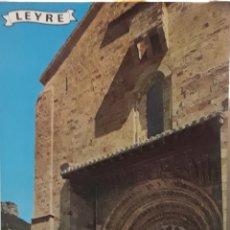 Postales: POSTAL N°535 PUERTA DE LA IGLESIA DE LEYRE YESA NAVARRA. Lote 209937472