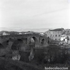 Postales: NEGATIVO ESPAÑA NAVARRA PUENTE LA REINA 1973 KODAK 55MM GRAN FORMATO NEGATIVE SPAIN PHOTO FOTO. Lote 210090320