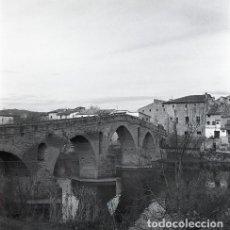 Postales: NEGATIVO ESPAÑA NAVARRA PUENTE LA REINA 1973 KODAK 55MM GRAN FORMATO NEGATIVE SPAIN PHOTO FOTO. Lote 210182943