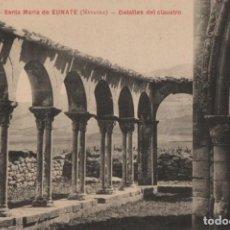 Postales: DETALLES DEL CLAUSTRO-SANTA MARIA DE EUNATE-NAVARRA. Lote 210411393
