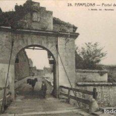 Postales: PAMPLONA. PORTAL DE FRANCIA, Nº 3228. FOTO L. ROISIN. CIRCULADA.. Lote 210439377