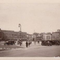 Postales: POSTAL FOTOGRAFICA DE PAMPLONA - PLAZA DEL CASTILLO AÑOS 20 - VER IMÁGENES. Lote 211275345