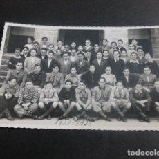 Postales: LECAROZ NAVARRA COLEGIO DE LOS CAPUCHINOS GRUPO ALUMNOS 1937-1938 POSTAL FOTOGTRAFICA. Lote 212333208