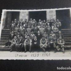 Postales: LECAROZ NAVARRA COLEGIO DE LOS CAPUCHINOS GRUPO ALUMNOS 1939-1940 POSTAL FOTOGTRAFICA. Lote 212333241