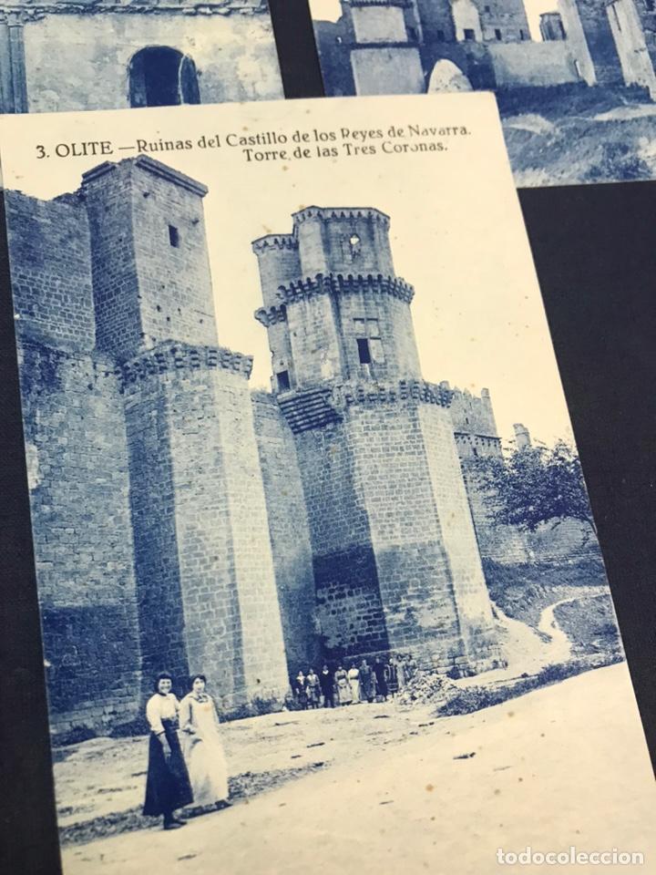 Postales: LOTE DE 5 POSTALES DE OLITE. SIN CIRCULAR - Foto 5 - 213717335