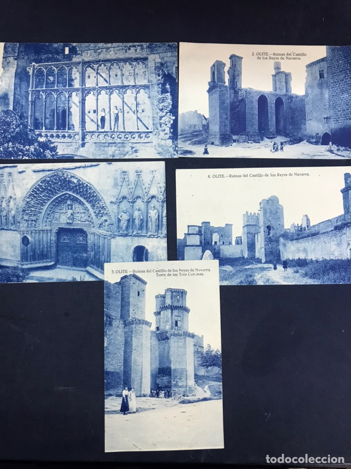 LOTE DE 5 POSTALES DE OLITE. SIN CIRCULAR (Postales - España - Navarra Antigua (hasta 1.939))