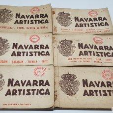 Postales: NAVARRA ARTISTICA 6 CUADERNILLOS CON 20 POSTALES 2 5 7 8 9 10 + REGALO LEER. FOTOGRAFO ROISINS. Lote 215784480