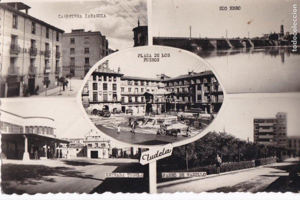 TUDELA VARIAS VISTAS. ED. DARVI Nº 5 - 1. CIRCULADA. (Postales - España - Navarra Antigua (hasta 1.939))