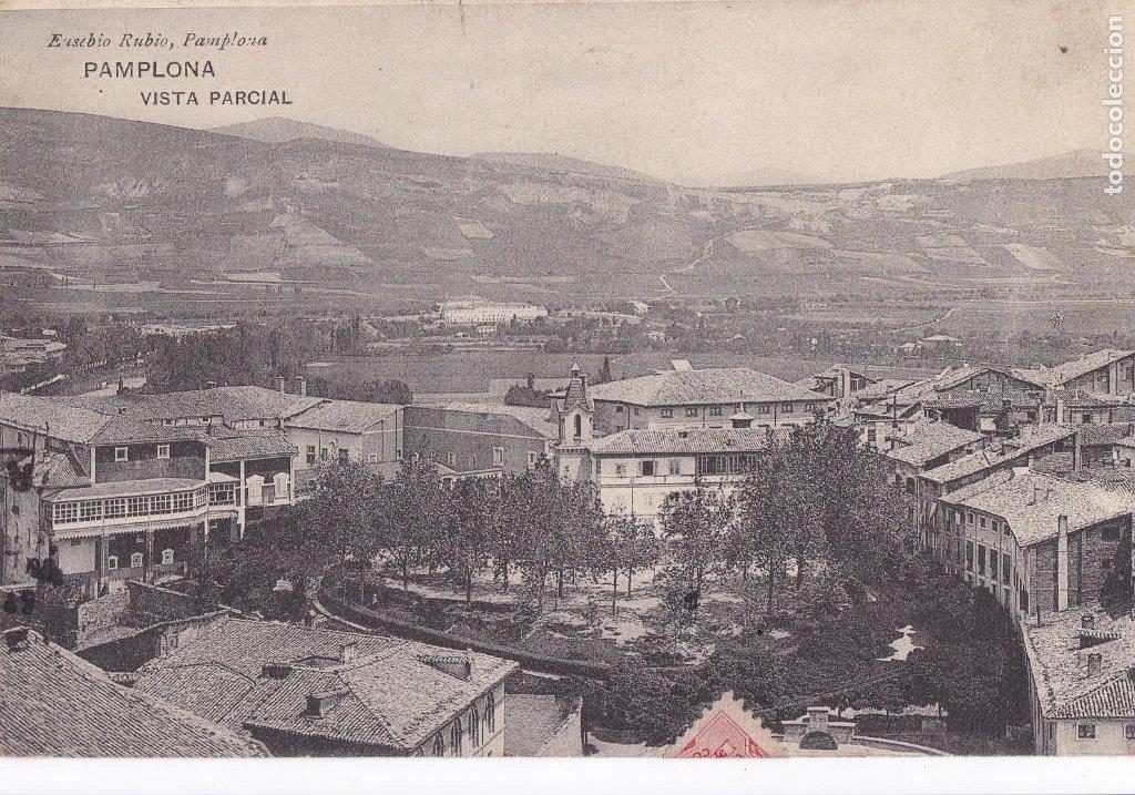 PAMPLONA VISTA PARCIAL. ED. RUBIO. CIRCULADA EN 1912 (Postales - España - Navarra Antigua (hasta 1.939))