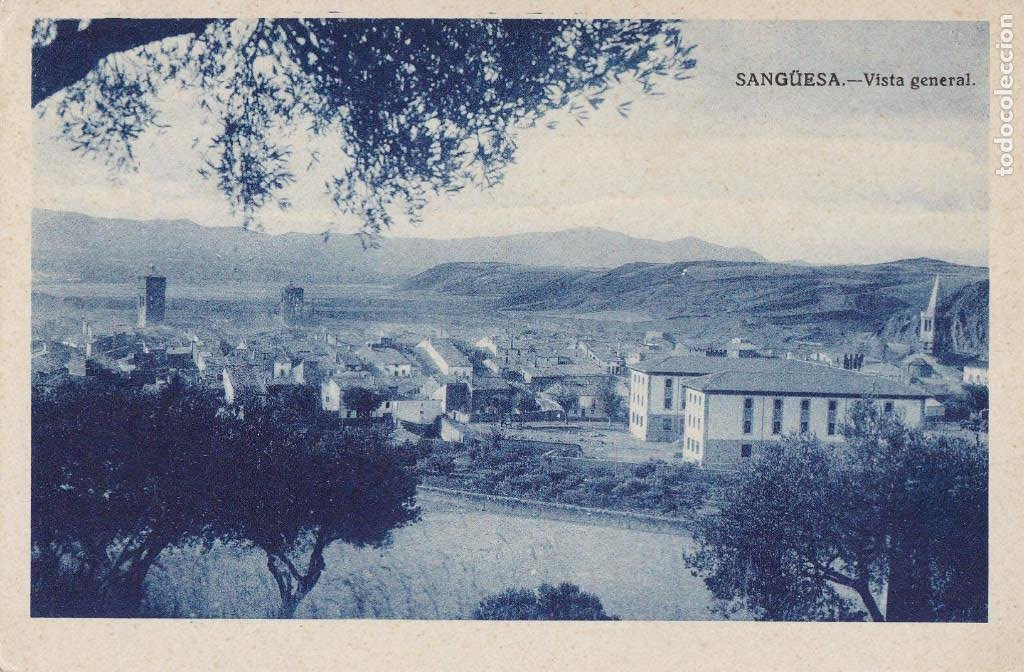 SANGUESA NAVARRA VISTA GENERAL. SIN CIRCULAR (Postales - España - Navarra Antigua (hasta 1.939))